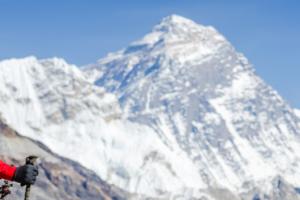 Trekker on Annapurna