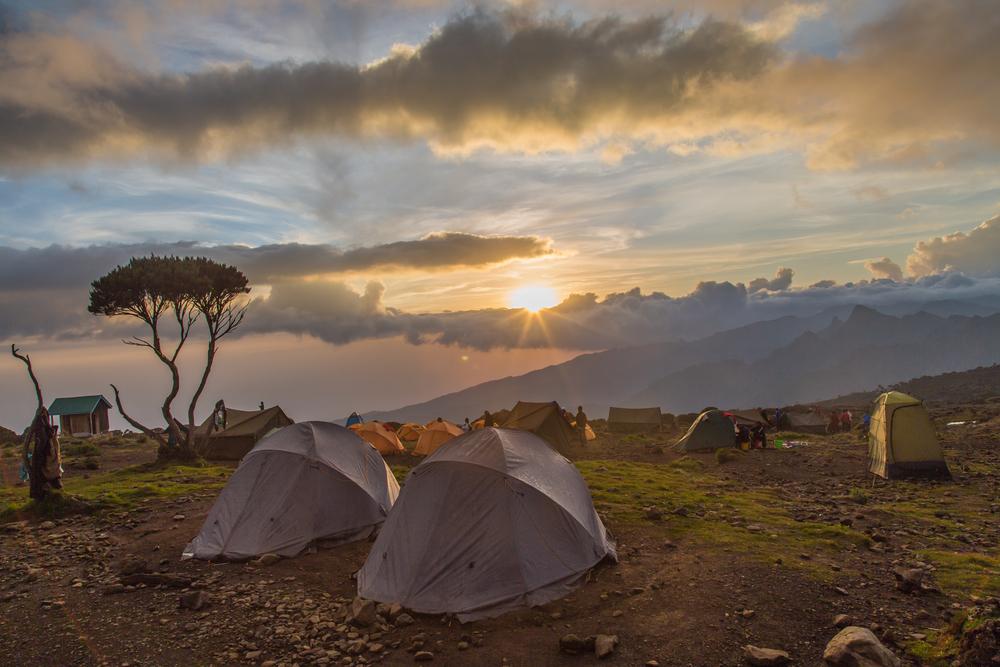 tents-on-kilimanjaro-sunset