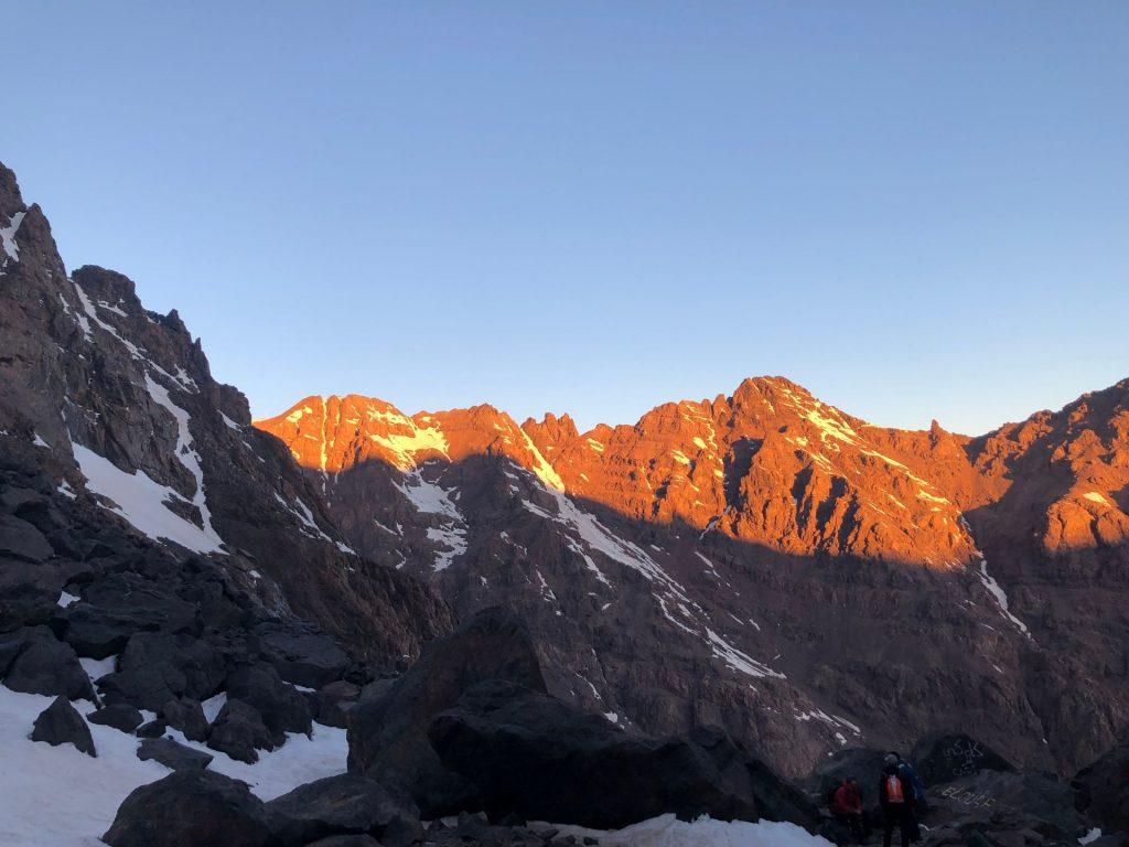 Climbing Mount Toubkal during winter