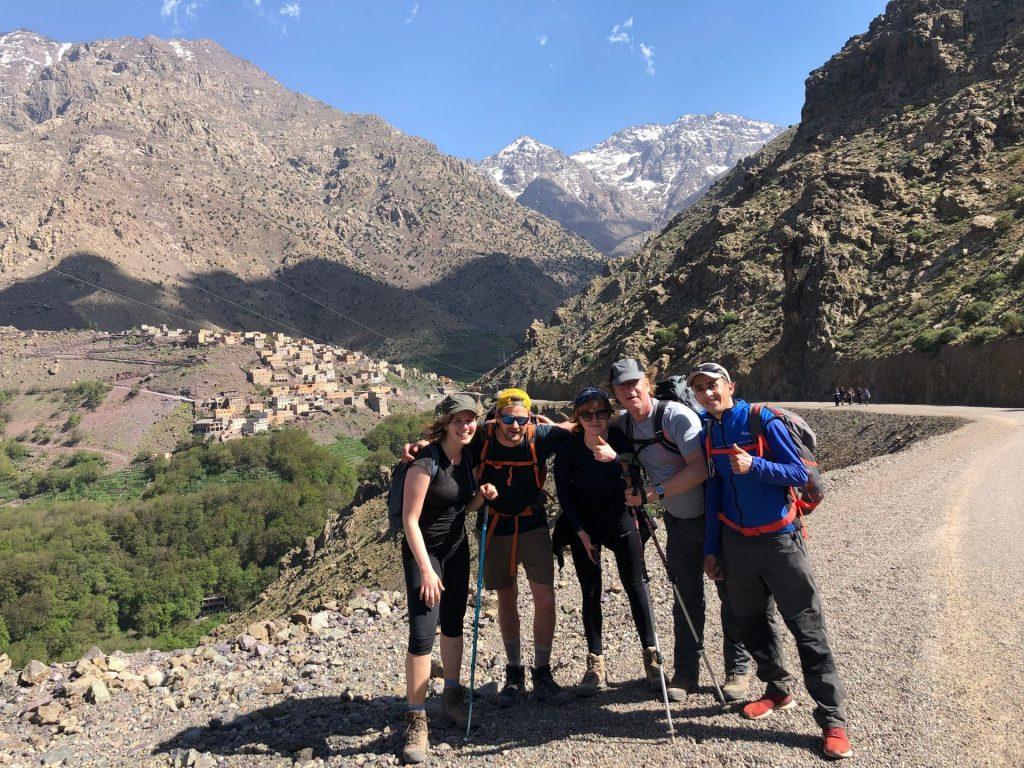 Groep voor je Mount Toubkal beklimming