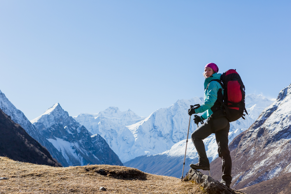 woman-trekking-in-nepal-view